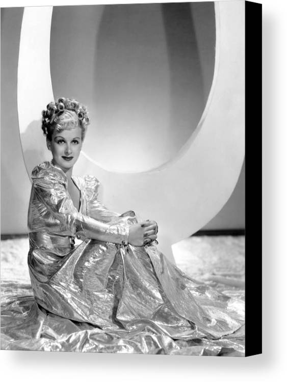 1930s Fashion Canvas Print featuring the photograph Artists And Models Abroad, Joan Bennett by Everett