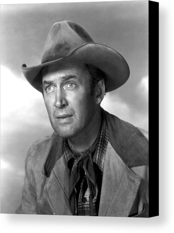 1930s Portraits Canvas Print featuring the photograph Far Country, The, James Stewart, 1955 by Everett
