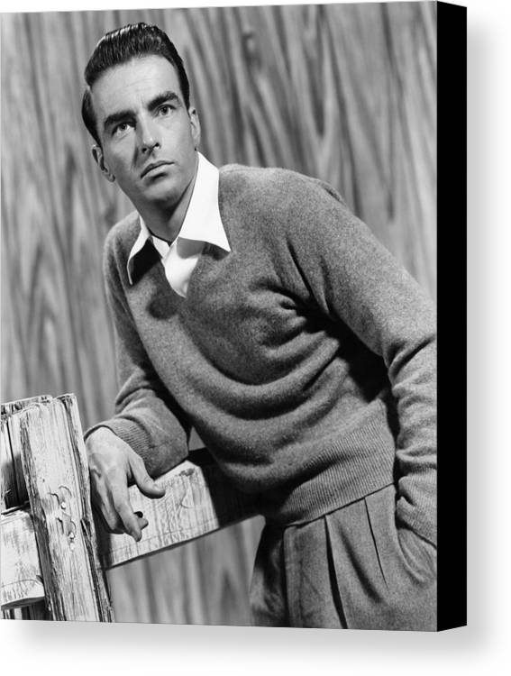 1950s Movies Canvas Print featuring the photograph I Confess, Montgomery Clift, 1953 by Everett