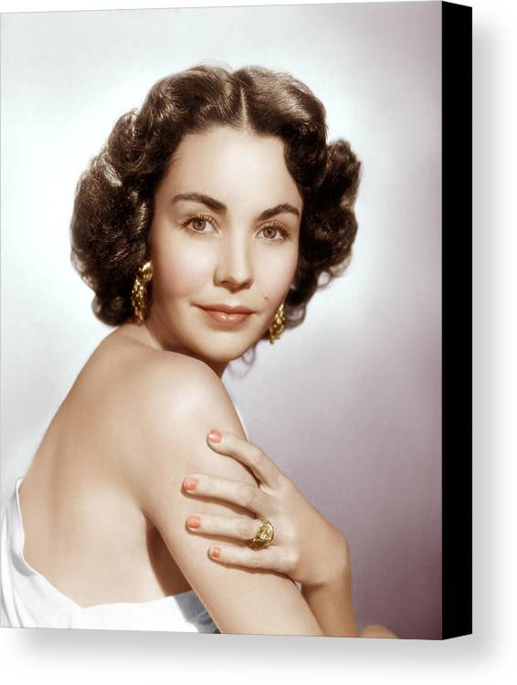 1950s Portraits Canvas Print featuring the photograph Jennifer Jones, Ca. Early 1950s by Everett