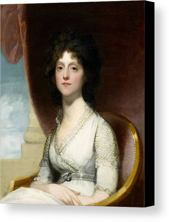 Female Canvas Print featuring the painting Marianne Ashley Walker by Gilbert Stuart