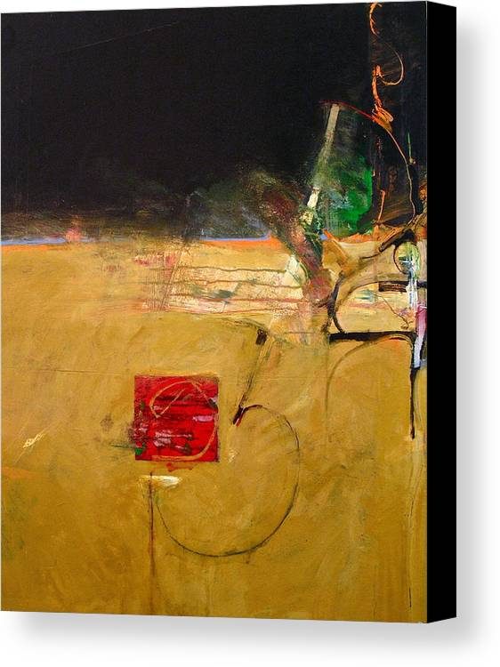 Abstract Painting Canvas Print featuring the painting No Go by Cliff Spohn