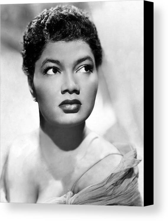 1950s Portraits Canvas Print featuring the photograph Pearl Bailey, Portrait Ca. 1952 by Everett