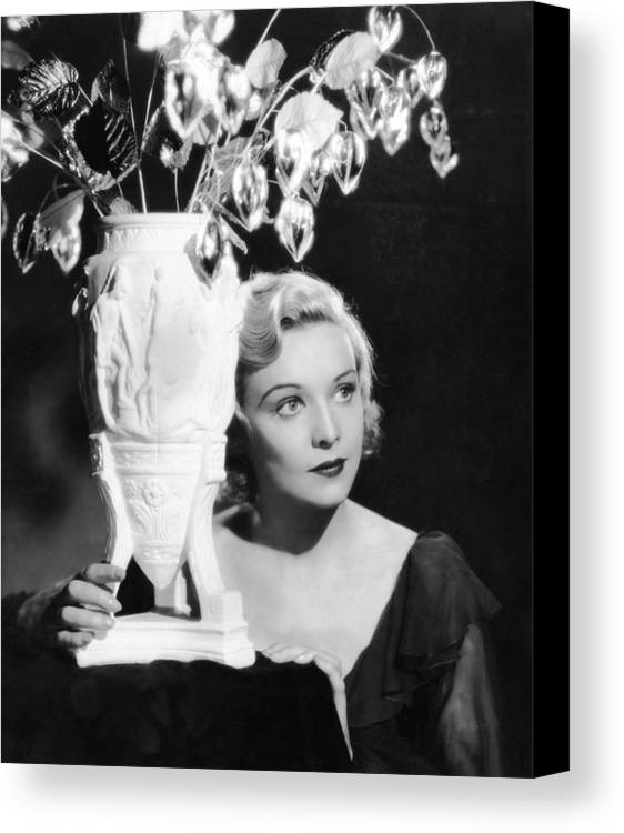 1930s Movies Canvas Print featuring the photograph Secret Agent, Madeleine Carroll, 1936 by Everett