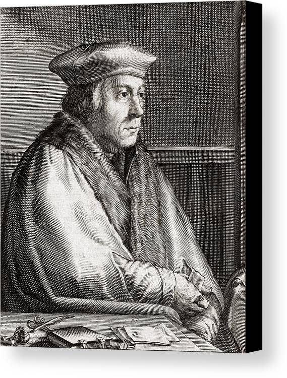 Thomas Canvas Print featuring the photograph Thomas Cromwell, English Statesman by Middle Temple Library
