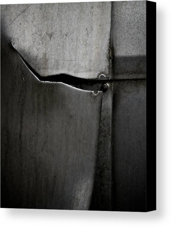 Metal Canvas Print featuring the photograph Torn Curtain by Odd Jeppesen