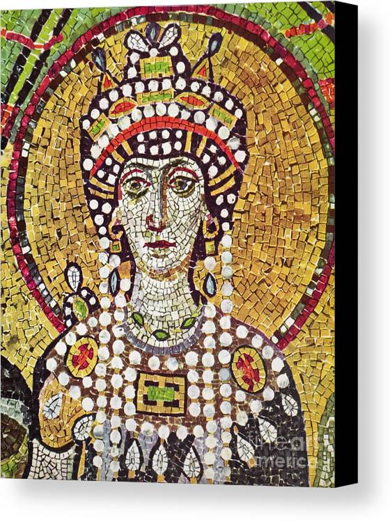 6th Century Canvas Print featuring the painting Theodora (c508-548) by Granger