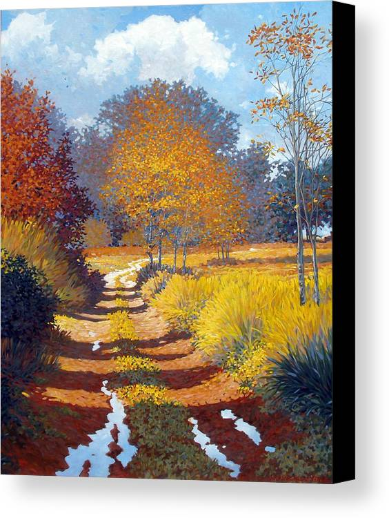 Landscape Canvas Print featuring the painting Autumn by Kevin Lawrence Leveque
