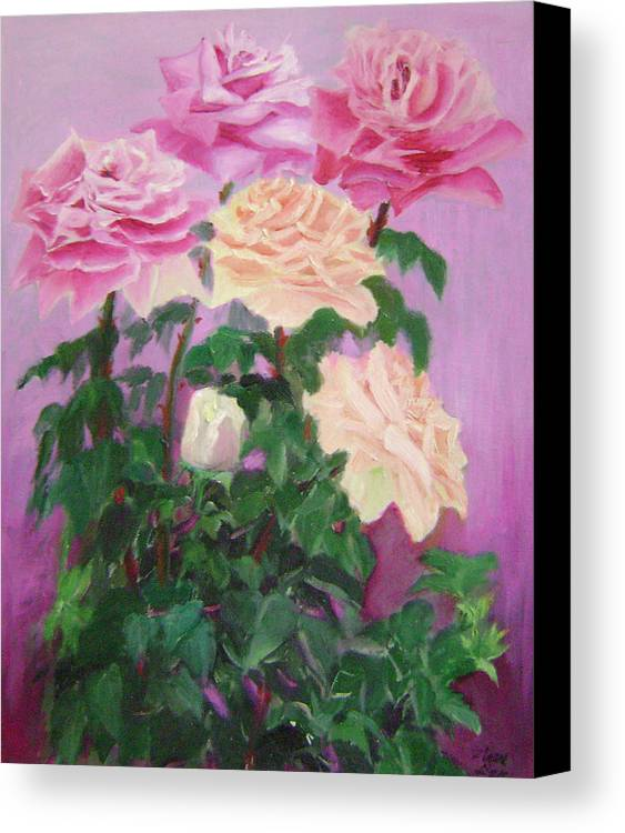 Abstract Canvas Print featuring the painting Pink Romance by Lian Zhen