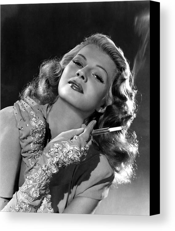 1940s Portraits Canvas Print featuring the photograph Rita Hayworth, Columbia Pictures, 1940s by Everett