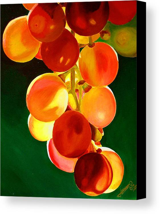 Still Life Canvas Print featuring the painting Sweet From The Sun by JoeRay Kelley