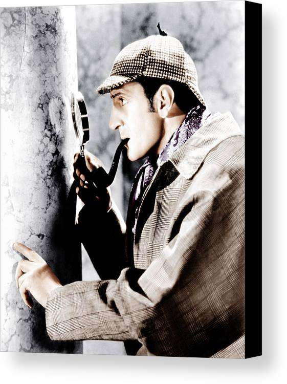 1930s Movies Canvas Print featuring the photograph The Adventures Of Sherlock Holmes by Everett