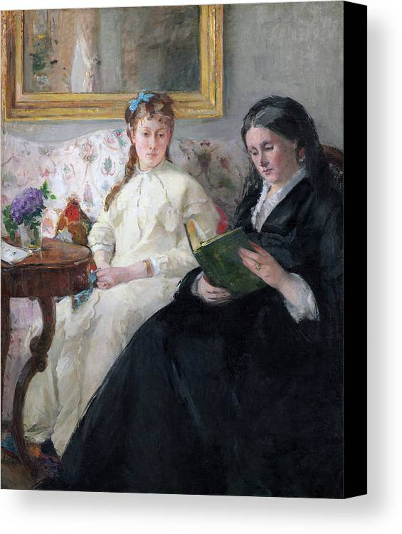 Female Artist Canvas Print featuring the painting The Mother And Sister Of The Artist by Berthe Morisot