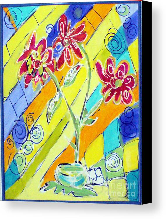 Vase Canvas Print featuring the painting Vase by Joyce Goldin
