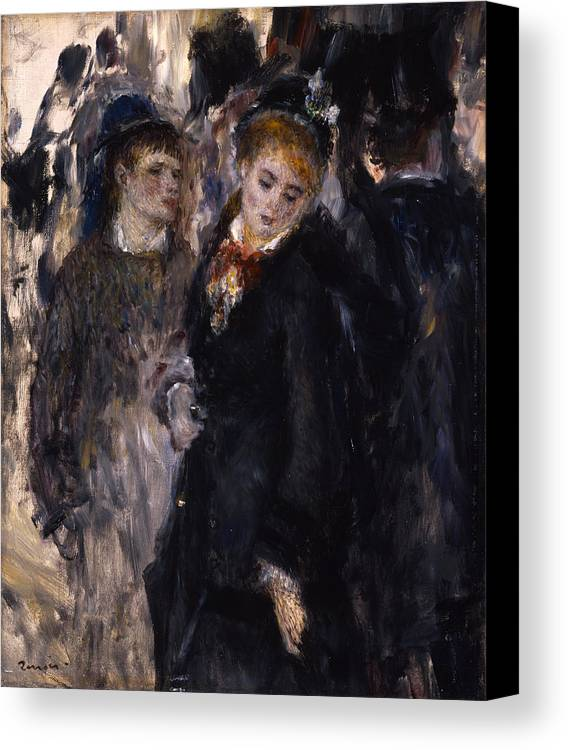 Europe Canvas Print featuring the painting Young Girls by Pierre-Auguste Renoir