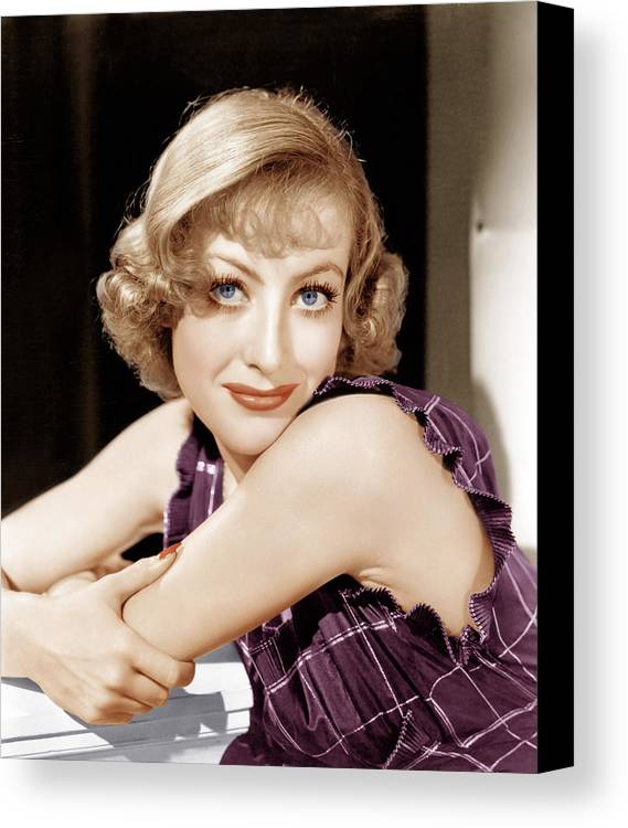 1930s Hairstyles Canvas Print featuring the photograph Joan Crawford, Ca. 1930s by Everett