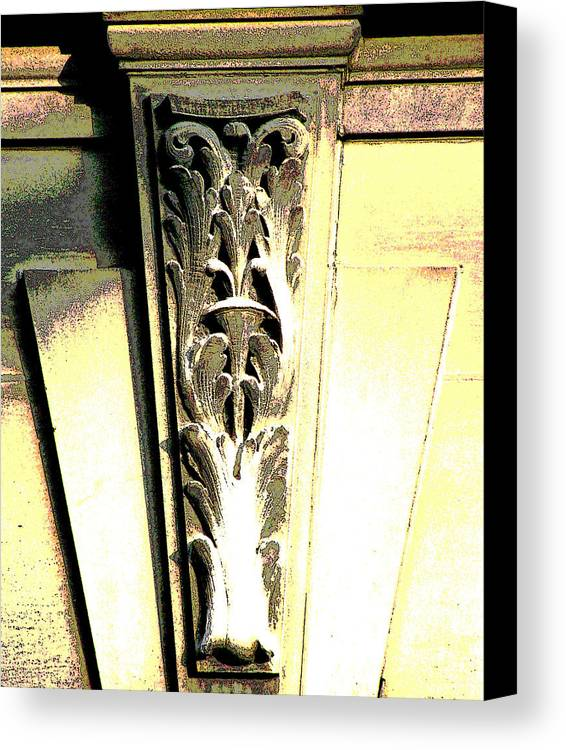 Architecture Embellishments Canvas Print featuring the photograph Embellishment Series by Ginger Geftakys