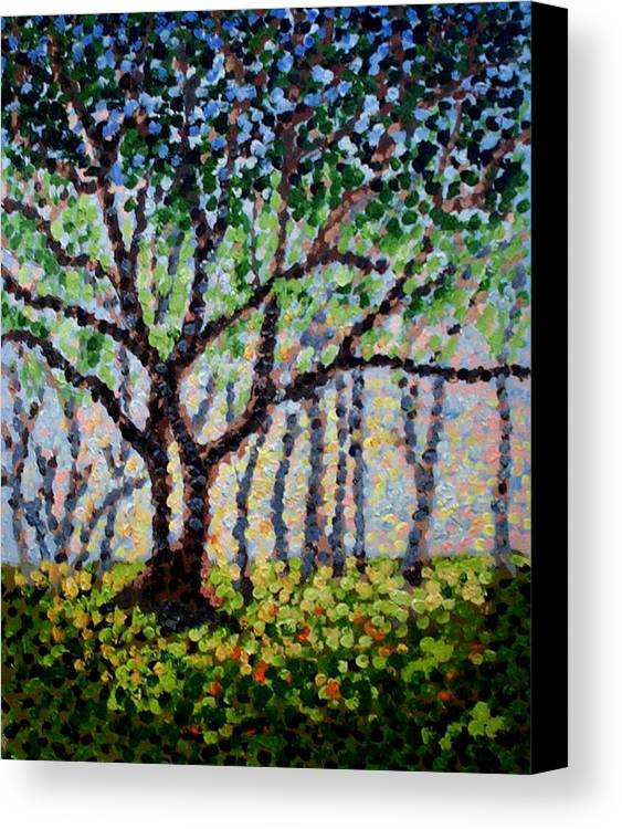 Nature Canvas Print featuring the painting A Summer Forest by Mats Eriksson