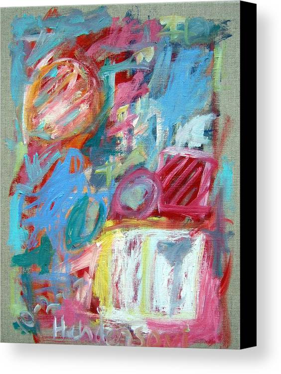 Abstract Canvas Print featuring the painting Abstract Composition 2 by Michael Henderson