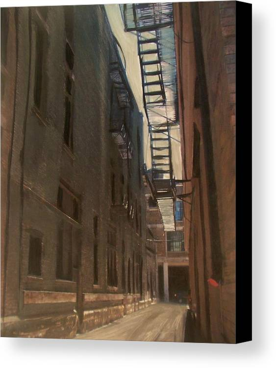 Alley Canvas Print featuring the painting Alley Series 5 by Anita Burgermeister