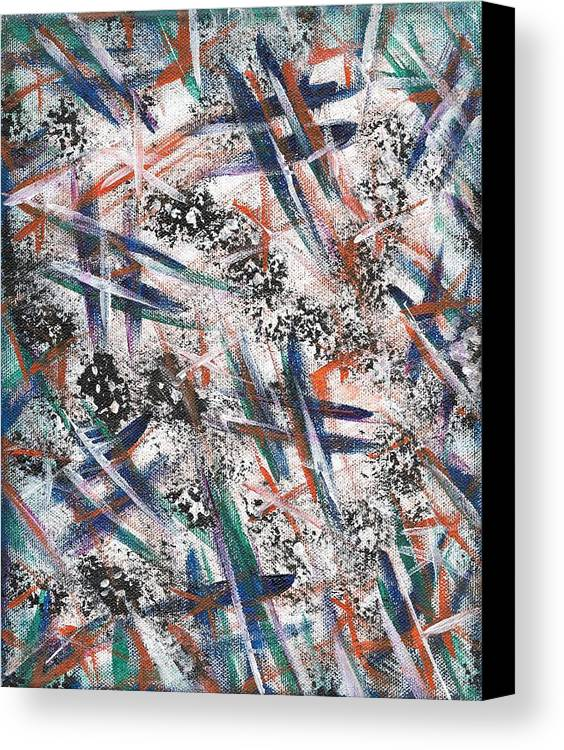 Original Painting Canvas Print featuring the painting At A Crossroad by Eric Atherton