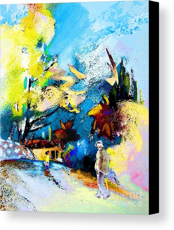 Pastel Painting Canvas Print featuring the painting Back Home by Miki De Goodaboom