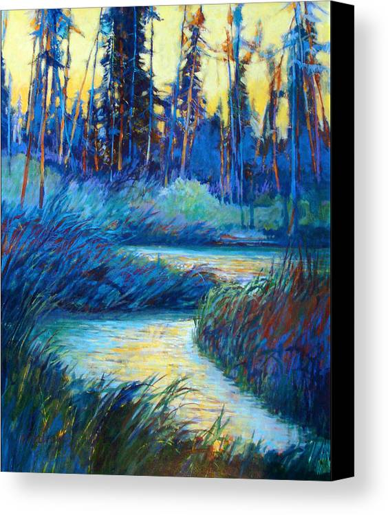Landscape Canvas Print featuring the painting Backwater Light by Dale Witherow