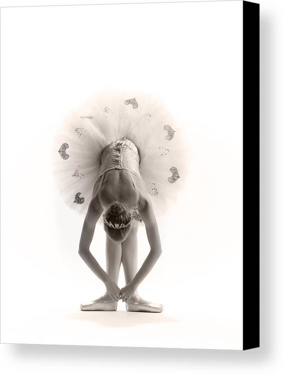Ballerina Canvas Print featuring the photograph Ballerina Bent by Steve Williams