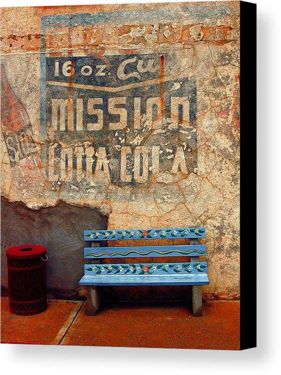 Arizona Photography Canvas Print featuring the photograph Bench by John Gee