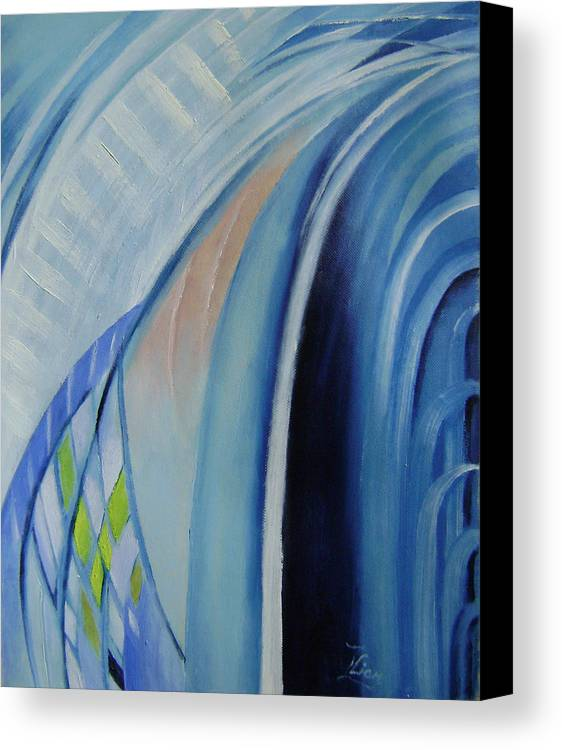 Abstracts Canvas Print featuring the painting Blue Concerto 3 by Lian Zhen