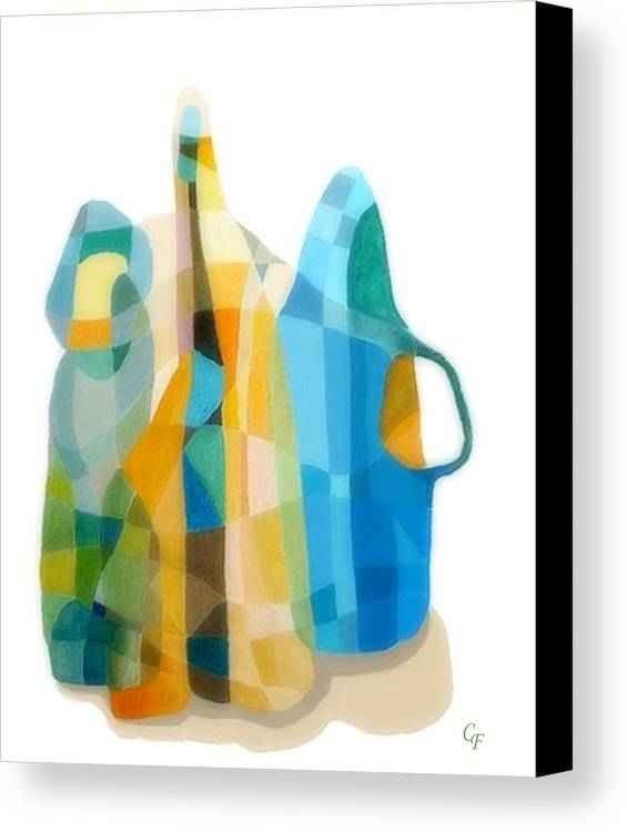 Still Life Painting Canvas Print featuring the painting Bottles Still Life by Carola Ann-Margret Forsberg