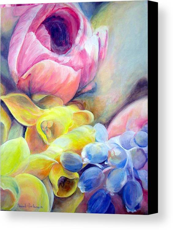 Flower Canvas Print featuring the painting Bouquet by Muriel Dolemieux