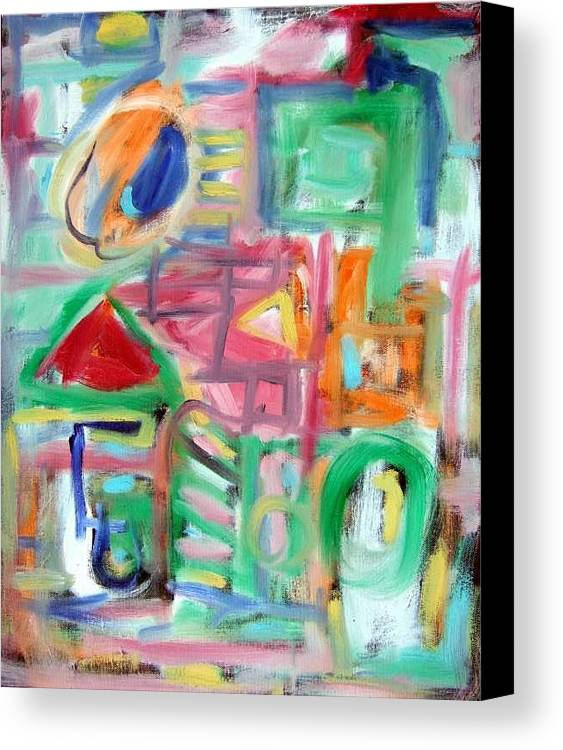 Abstract Canvas Print featuring the painting Composition No. 6 by Michael Henderson