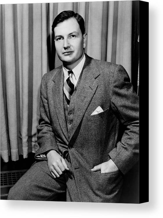 History Canvas Print featuring the photograph David Rockefeller B. 1915 Grandson by Everett