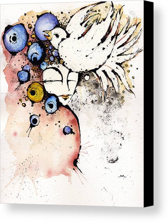 Dear Prudence Canvas Print featuring the painting Dear Prudence.... by Mark M Mellon