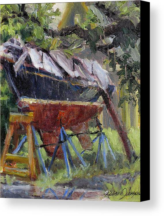 Sail Boats Canvas Print featuring the painting Dreamin' In The Rain by L Diane Johnson