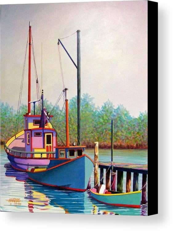 Landscape Canvas Print featuring the painting Fancy Fleet by Hugh Harris