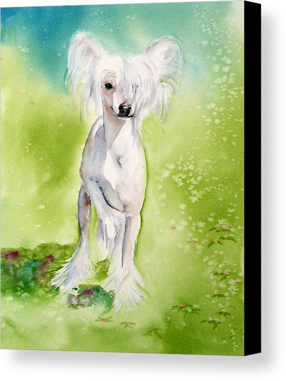 Canine Canvas Print featuring the painting Flower by Gina Hall