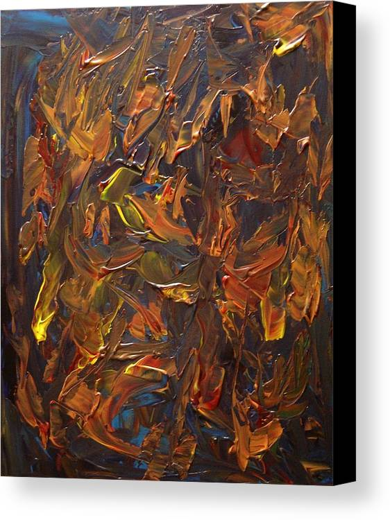 Abstract Canvas Print featuring the painting Focused And Fuming by Karen L Christophersen