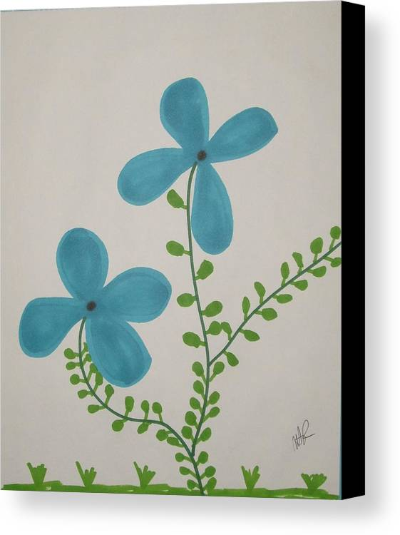 Flowers Canvas Print featuring the drawing Hi by Nicholas A Roes