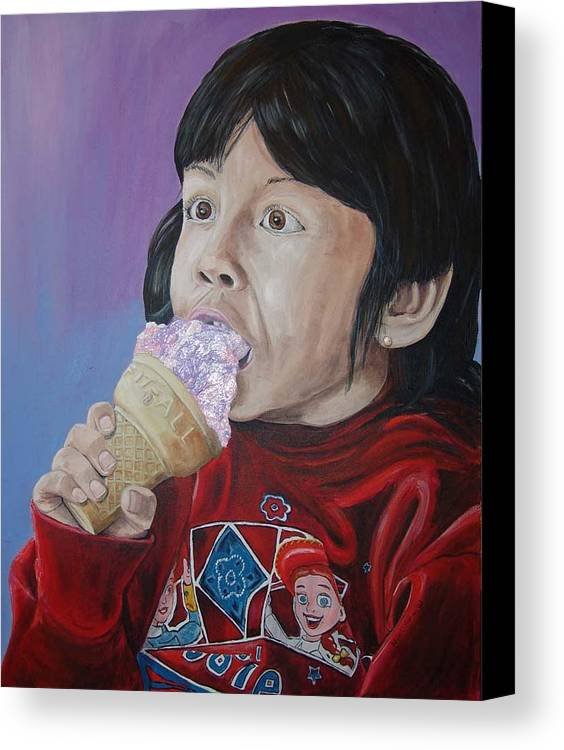 Kevin Callahan Canvas Print featuring the painting Ice Cream by Kevin Callahan