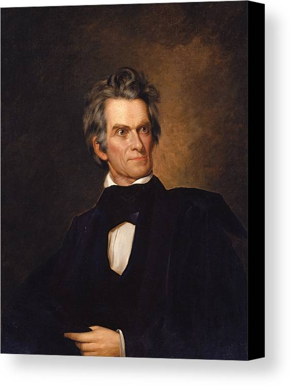 American Artist Canvas Print featuring the painting John C. Calhoun by George Peter Alexander Healy