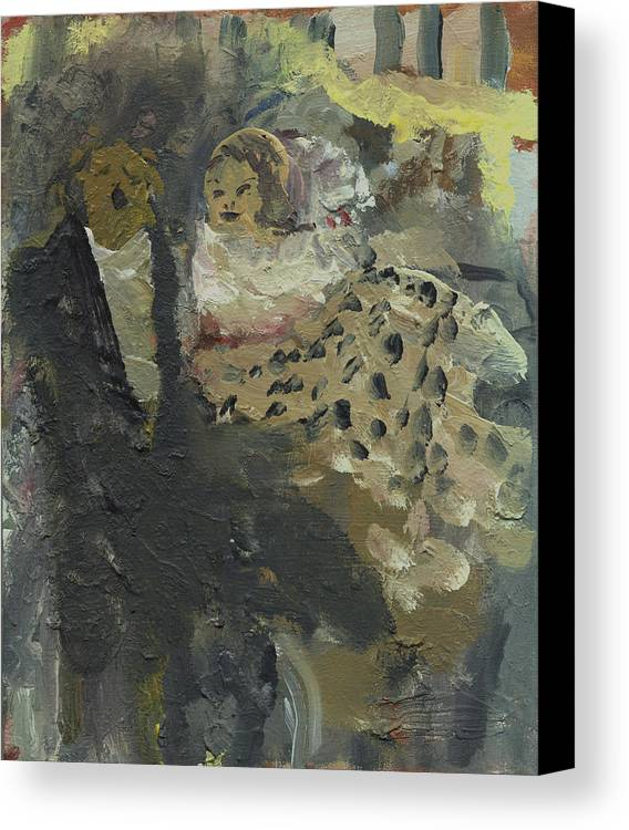 Opera Canvas Print featuring the painting Laboheme Act 3 Parkscene by Bill Collins