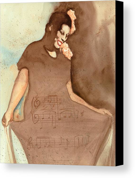 Portraits Canvas Print featuring the painting L'il Green by Kay Robinson
