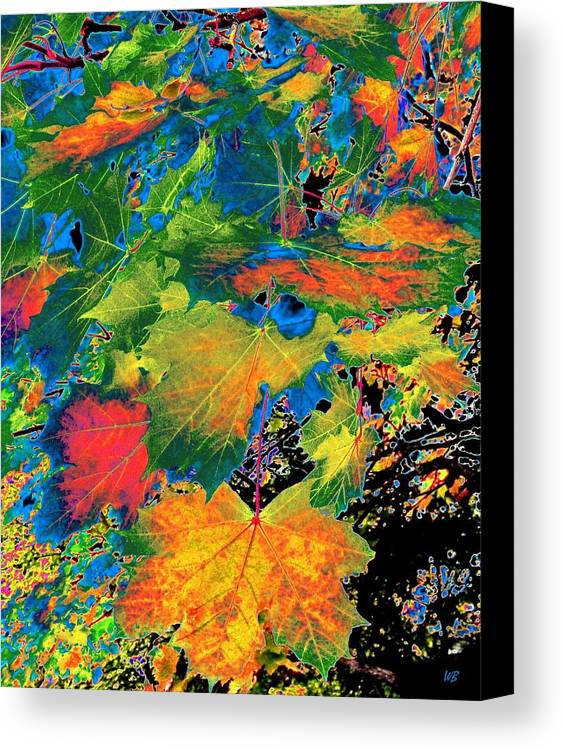 Photo Design Canvas Print featuring the digital art Maple Mania 3 by Will Borden
