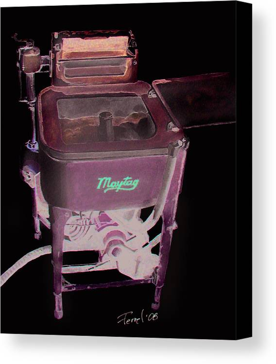 Washer Canvas Print featuring the painting Maytag by Ferrel Cordle