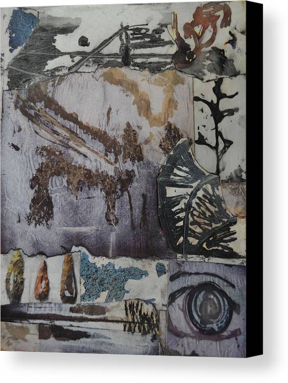 Graphic Canvas Print featuring the mixed media Never Dull by Alice Kelsey