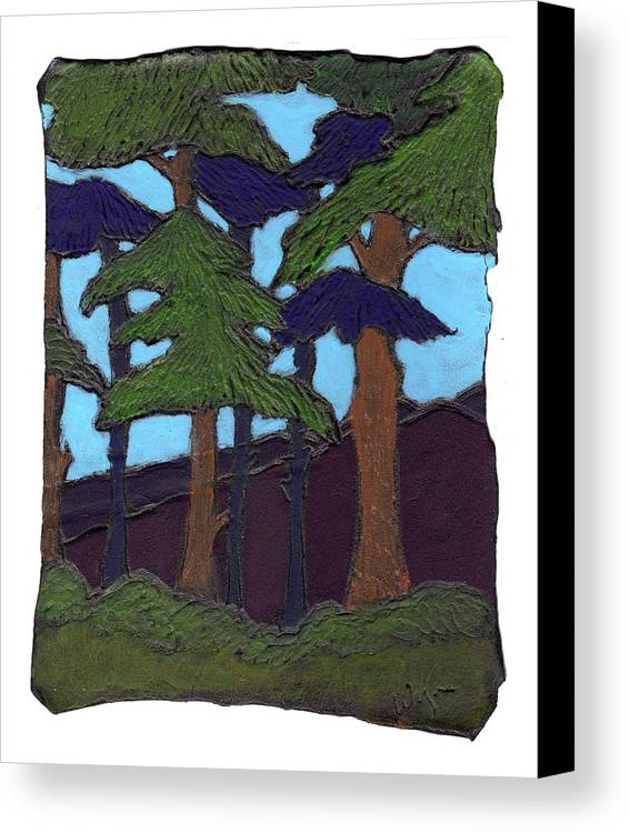 Tree Canvas Print featuring the painting Northern Woods by Wayne Potrafka