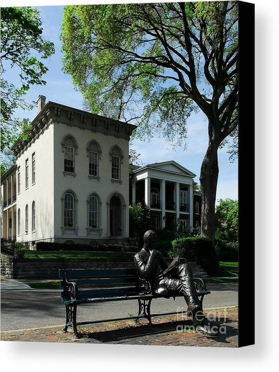 Covington Kentucky Canvas Print featuring the photograph On Riverside Drive by Mel Steinhauer
