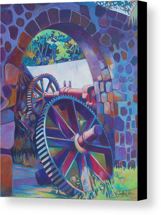 Canvas Print featuring the painting Plantation Spirit by Glenford John